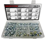 British Thread Grease Fitting Kit - 100 Piece Assortment