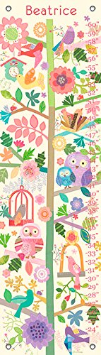Oopsy Daisy Birds & Branches by Jill McDonald - Personalized Growth Charts, - Mcdonald Jill Personalized