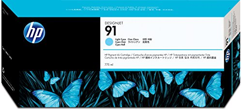 HEWC9470A - HP 91 Pigment Light Cyan Ink Cartridge