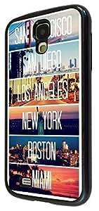 Fun US Cities New York Miami Los Angeles 189 Fashion Design Samsung Galaxy S4 Mini Fashion Trend Case Back Cover Hard plastic / Thin Metal