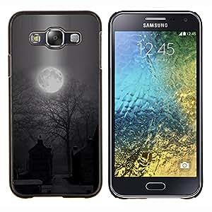 """S-type Luna fantasmagórica de Halloween del cementerio"""" - Arte & diseño plástico duro Fundas Cover Cubre Hard Case Cover For Samsung Galaxy E5 E500"""