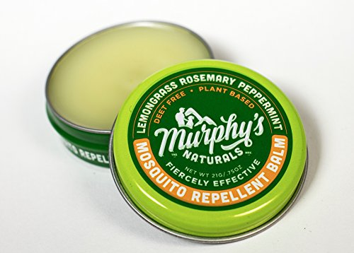 Murphy's Naturals Mosquito Repellent Balm | Anti-Mosquito Plant-Based Ingredients Include Lemongrass, Rosemary, Peppermint and Beeswax | Travel Size 0.75 ()