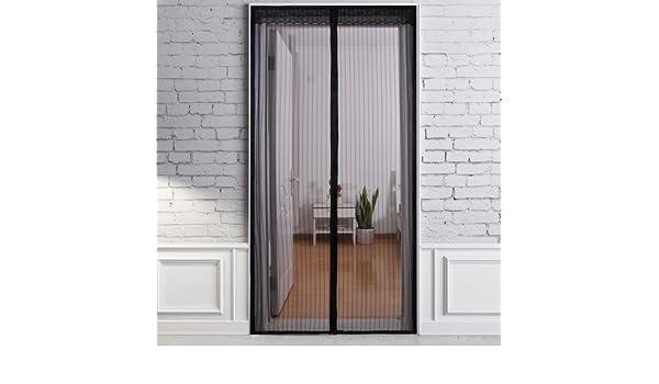 J&DSSSU Mosquitera de Puerta con Puerta de corredera de Imán con Resistente Malla de Cortina Fácil Instalación,Mascota amigable,Manos Libres-A 110x210cm(43x83inch): Amazon.es: Hogar