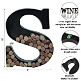 Metal Letter Wine Cork Holder Monogram w/Free Wall