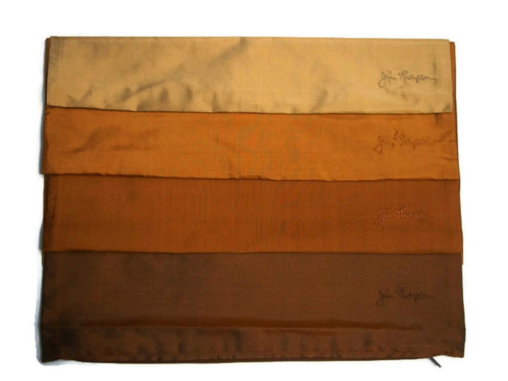 Jim Thompson - Set of 4 Cotton Sofa Cushion Pillow Cover / Case for Home Decoration - Shade of Brown by Jim Thompson