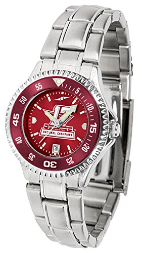 Alabama Crimson Tide 2017 National Champions Watch - Competitor Ladies' Steel AnoChrome - Color Bezel Alabama Crimson Tide Ladies Watch