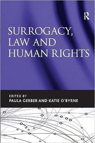 Surrogacy Law And Human Rights Amazon Paula Gerber Katie O