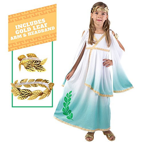 Kids Greek Costumes (Spooktacular Creations Deluxe Greek Goddess Costume Set (M(8-10)))