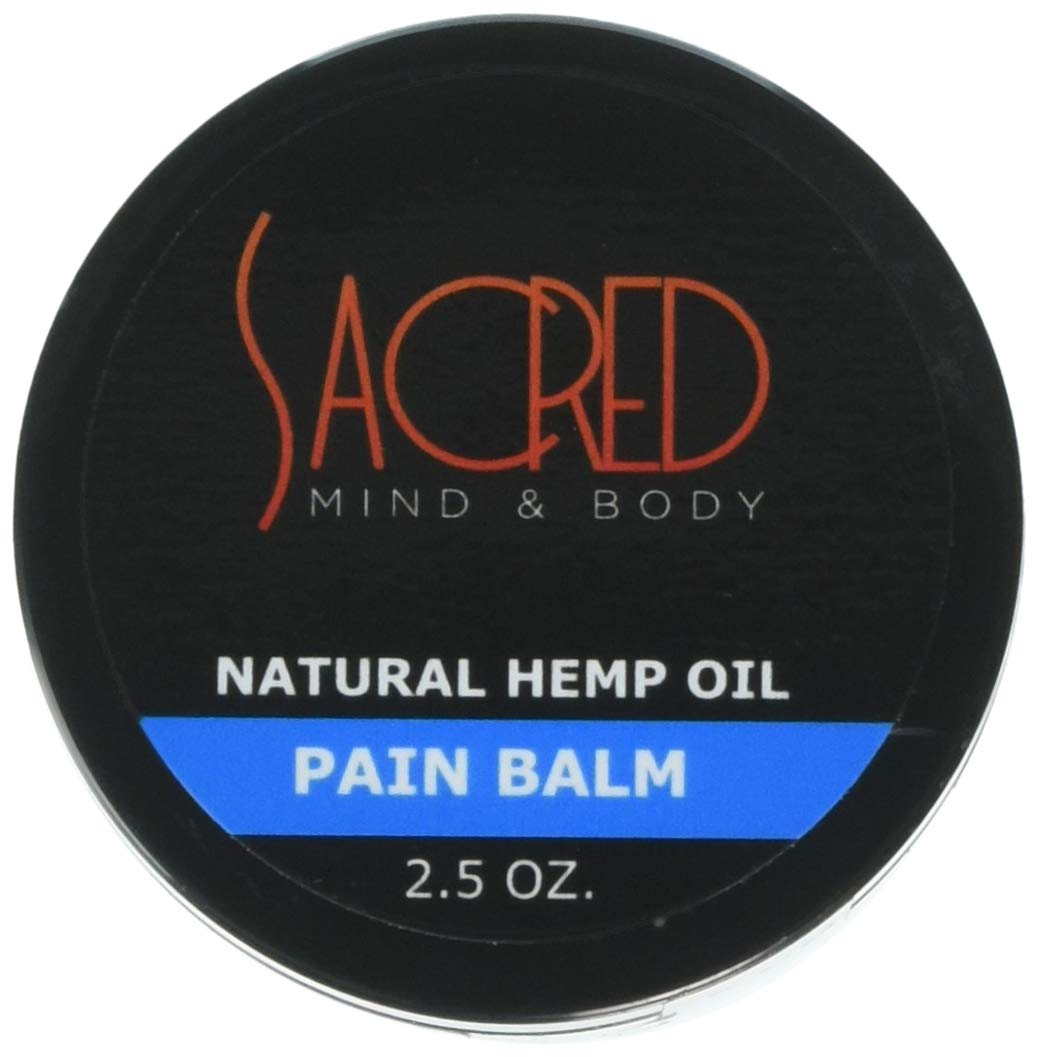 Sacred All Natural Fast Acting Hemp Balm Pain Relief & Rejuvenation for Achey Muscles, Joint Pain, Arthritis, 3 Ounce