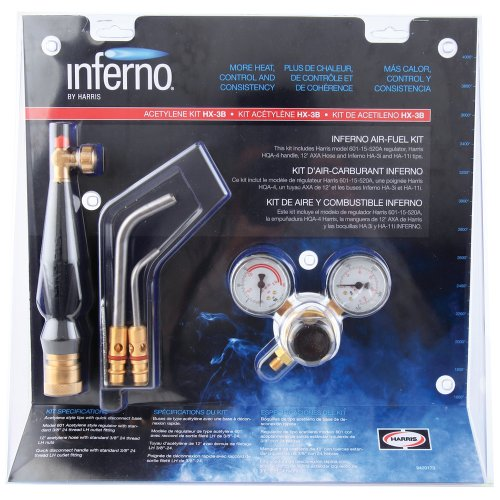 Harris HX-3B Inferno Air-Fuel Kit with Quick Connect Acet...