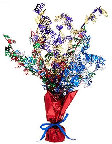 Beistle 50809-MC Birthday Gleam 'N Burst Centerpiece, -