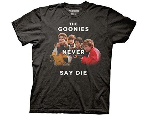 Ripple Junction Goonies Never Say Die Group Photo Adult T-Shirt (Mens Never Die)