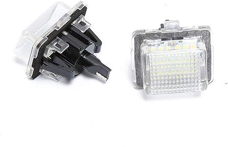 MOLEAQI 2pcs Error Free LED License Number Plate Lights Lamps for M-ercedes B-enz W204 W212 C216 W221 C207