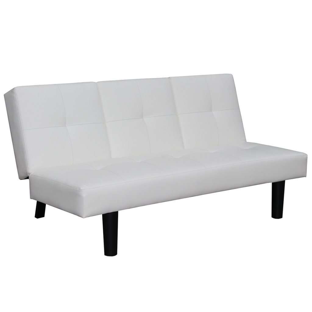 Festnight Mueble de Sofá Cama Desplegable con Mesa Blanco: Amazon.es ...
