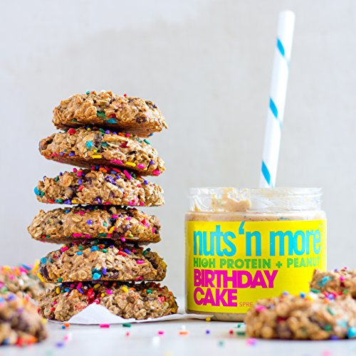 Nuts N More Birthday Cake Peanut Spread High Protein Great Tasting All