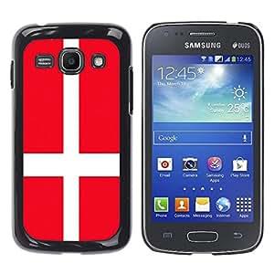- Flag - - Monedero pared Design Premium cuero del tirš®n magnšŠtico delgado del caso de la cubierta pata de ca FOR Samsung Galaxy Ace3 s7272 S7275 Funny House