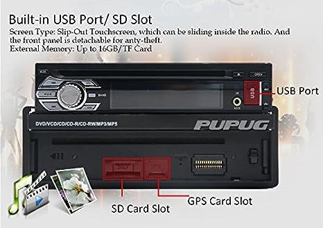 C/ámara de Vista Trasera la Radio de Coche de Audio est/éreo 7Detachable Panel de la mueca de Dolor 6.0 Individual DIN en el Tablero de Auto Audio Unidad Principal de Soporte de Bluetooth GPS de