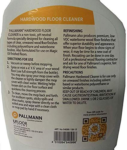 Pallmann Hardwood Floor Cleaner 32 Ounce Spray Bottle by Pallmann Wood Floors (Image #2)