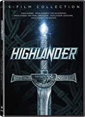 All five HIGHLANDER movies together for the first time from Lionsgate!For the first time ever all five HIGHLANDER films are available in the same collection! Christopher Lambert and Sean Connery star in the epic tale of immortality that launc...