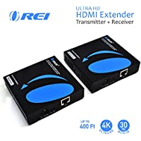 OREI 4K HDMI Extender Over Single CAT5e/CAT6 Cable One to Many Multiple Display Matrix 4K @ 30Hz With IR - Up to 400 Ft - ProLNK Technology