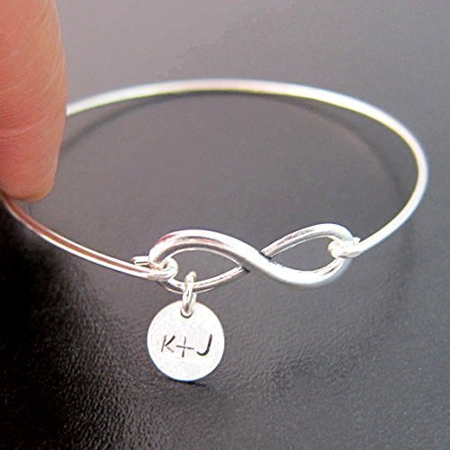 Image Unavailable Not Available For Color Personalized Girlfriend Gift Bracelet With Couples Initials Birthday