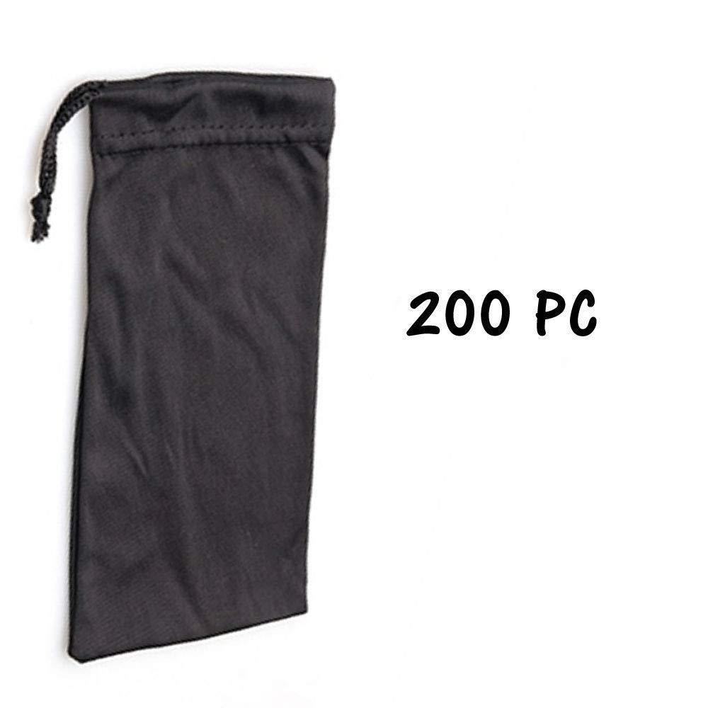 Black 200 Pcs Cloth Carry Bag Case Sunglasses Carrying Pouch Case Bag Cheap Bulk Lot Micro Fiber Eyeglass Accessories Cases