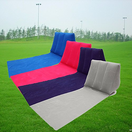 Outdoor PVC Inflatable Camping Back Pillow Cushion Chair Tra