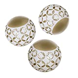 "table centerpiece ideas Schonwerk Diamond Lattice Decorative Orbs Set of 3 | Resin Spheres Balls Decor | 3.2"" Colorful Elegant Orbs for Bowls 
