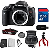 Canon T6i Digital SLR Body (No Lens) Deluxe Bundle + High Speed 32GB Memory Card + High Speed Reader + Flexible Tripod + Wi-Fi Enabled - International Version