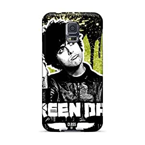 Samsung Galaxy S5 DEb18120eKDe Unique Design Nice Green Day Band Pattern Protective Hard Phone Case -SherriFakhry