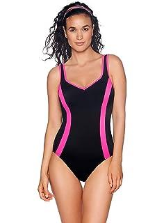 Reebok Womens Swimwear Sport Fashion Colorblock Scoop Neck One Piece Swimsuit