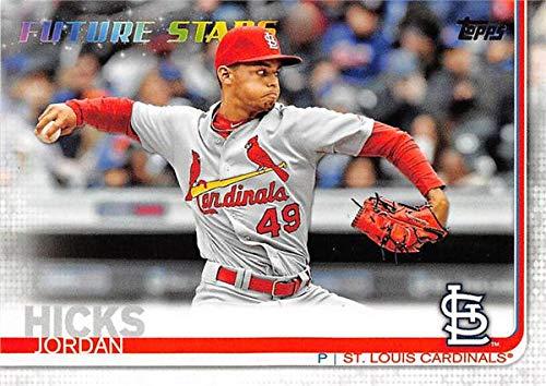(Jordan Hicks baseball card (St Louis Cardinals Pitcher) 2019 Topps #329 Future Stars)
