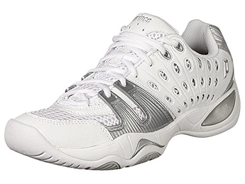 Prince Women's T22 Tennis Shoe,White/Silver,8.5 M US by Prince