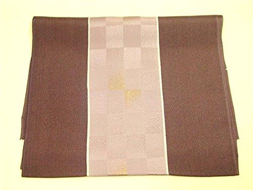 瞑想するブラケットラフ睡眠正絹 帯揚げ/紅消鼠?薄色/市松