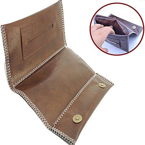 (Womens/Mens Soft Leather Bag Cigarette tobacco Case & Lighter Holder,Cigarette Tobacco Pouch Leather Bag Case Holder Wallet Filter Rolling Paper Gift)