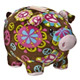 "Mary Meyer Print Pizzazz 6"" Piggy Bank Peace Design"