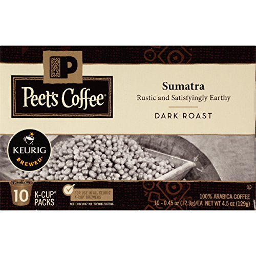 Peet's Coffee K-Cup Packs, Sumatra, Gloomy Roast 60 Count