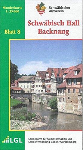 Karte Des Schwabischen Albvereins 08 Schwabisch Hall Backnang 1