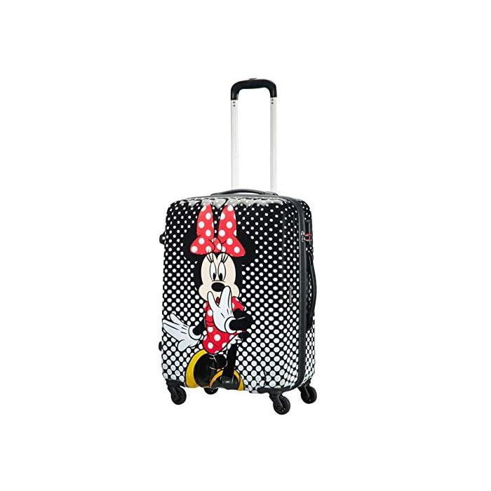 51Kz6ofSYQL Disney Legends Spinner 65 Alfatwist: 45.5 x 27.5 x 65 cm - 62.5 L - 3,40 kg Cerradura fijo con combinación de 3 dígitos para añadir seguridad Divertida serigrafía de Disney con acabado brillante y forro de color a juego