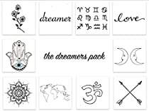 INKED by dani Temporary Tattoos - The Dreamers Pack