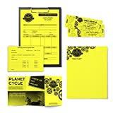 """Neenah Astrobrights Color Paper, 8.5"""" x 11"""", 24 lb/89 GSM, 500 Sheets (21011), Yellow"""