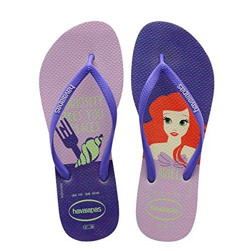 Havaianas Women's Slim Princess Flip Flops White/Purple 37-38 M Bra ()