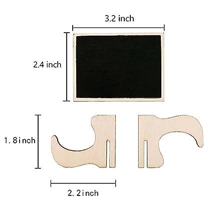 SIMAIOU - Paquete de 20 mini pizarras con caballetes de ...