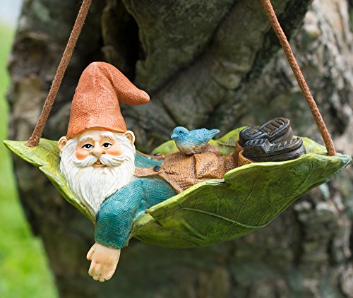 Twig Flower Harley The Happy Miniature Leaf Hammock Gnome With His Best Blue Bird Buddy Jay