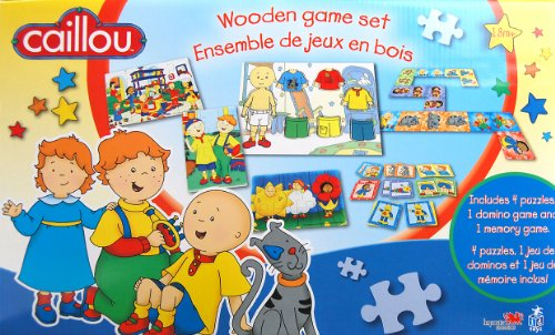 Caillou Wood Game Set