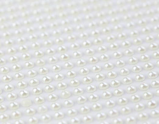 Artemio 80-Piece Adhesive RhineStones Pearls Ivory White