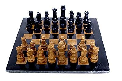 RADICALn black and golden marble chess set