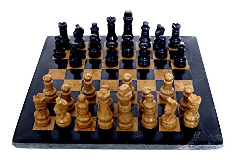 RADICALn Classic Board Game Ideas Black and Golden Marble Chess Set – Handmade Staunton Chess Set Adult Board Game – Ideal as Family Games – Non Othello Game Set - - Classic Set Marble Chess
