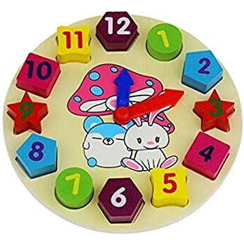 Generic Wooden 12 Number Clock Puzzle Educational Toy