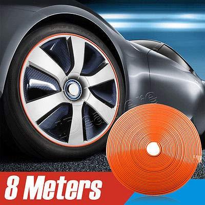 Rim Edge (FidgetFidget Car Wheel Hub Rim Edge Protector Ring Tire Guard Sticker Rubber Strip Orange)
